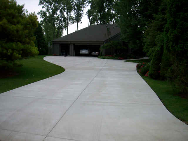 winding concrete driveway