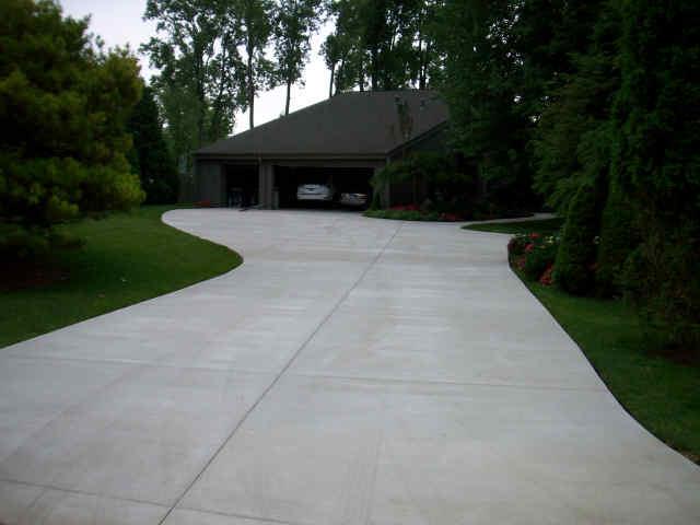 winding concrete driveway