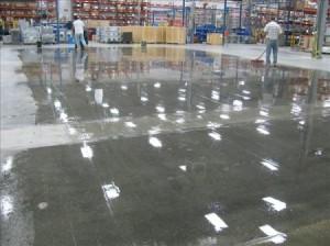 concrete polishing workers