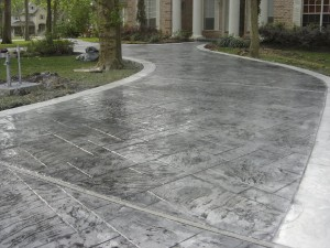 Finishing a refurbished Decorative Concrete Overlay