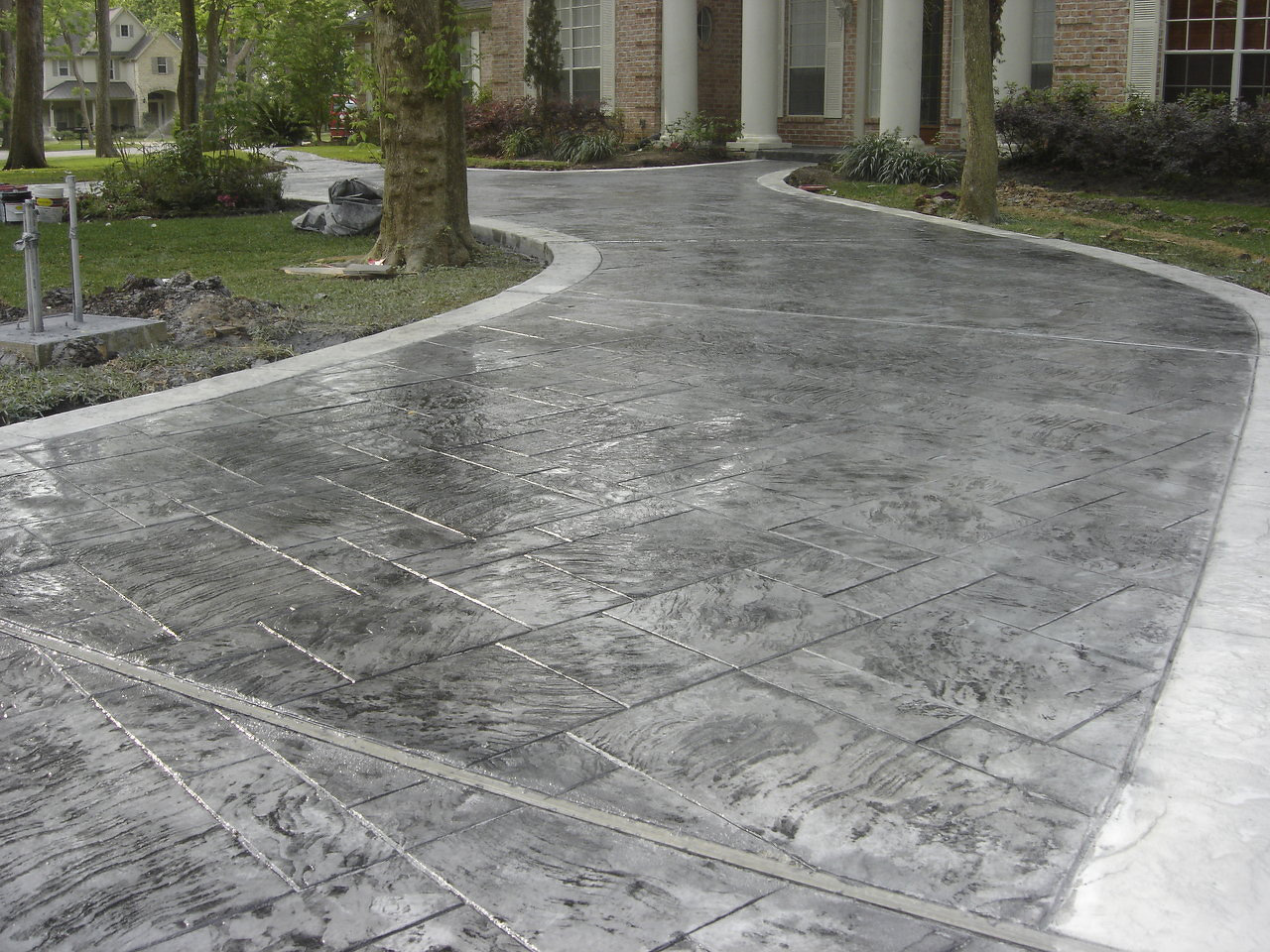 How To Finish Decorative Concrete Overlay