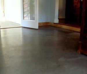 Interior concrete floor care and sealing