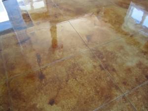 New polished concrete flooring